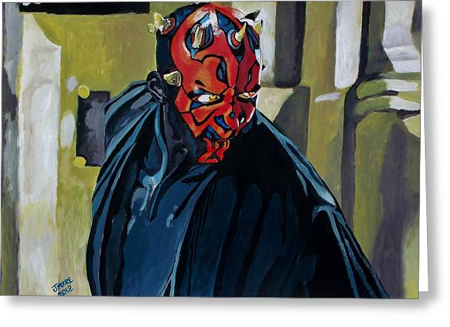 Darth Maul Greeting Card by Jeremy Moore