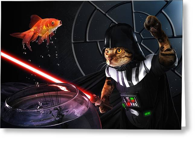 Darth Sushi Greeting Card