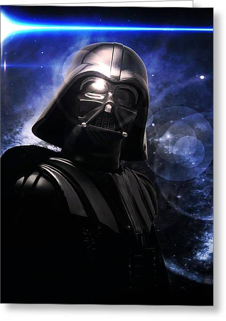 Greeting Card featuring the photograph Darth Vader by Aaron Berg