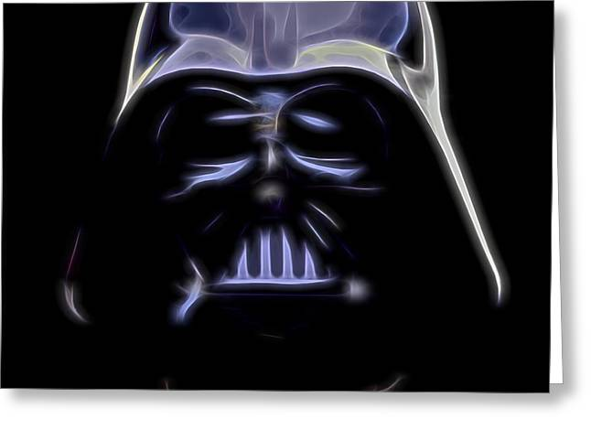 Darth Vader Greeting Card by Dan Sproul