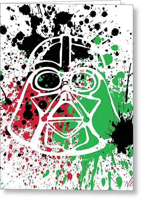 Darth Vader Goes Splat Greeting Card