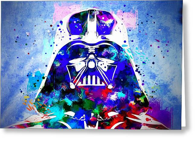 Darth Vader Star Wars Greeting Card by Daniel Janda