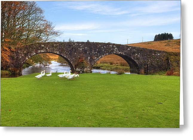 Dartmoor - Two Bridges Greeting Card by Joana Kruse
