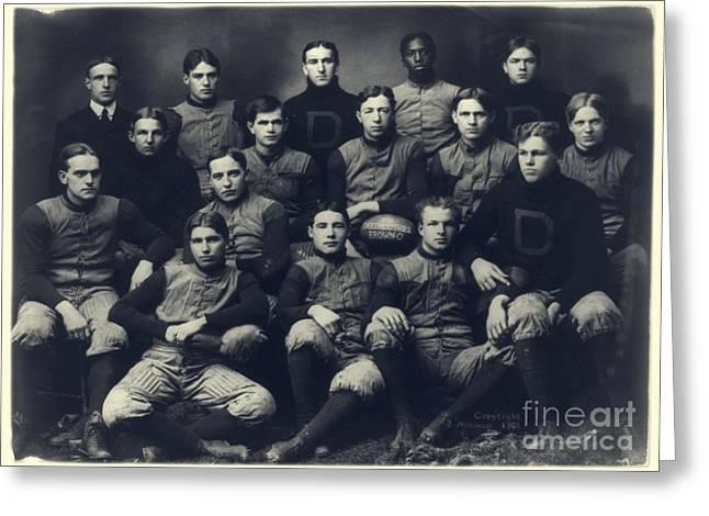 Dartmouth Football Team 1901 Greeting Card by Edward Fielding