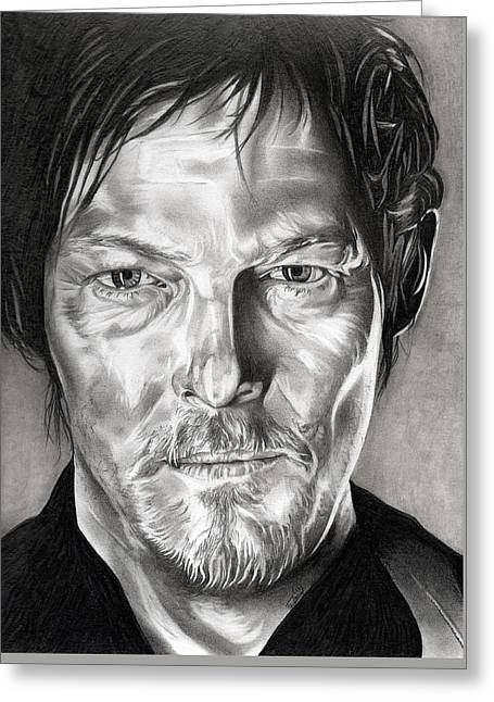 Daryl Dixon - The Walking Dead Greeting Card by Fred Larucci