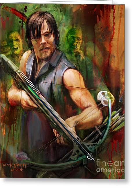Daryl Dixon Walker Killer Greeting Card