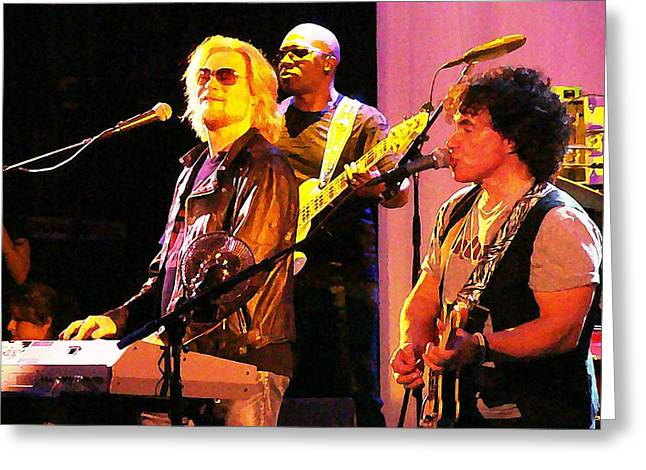 Daryl Hall And Oates In Concert Greeting Card