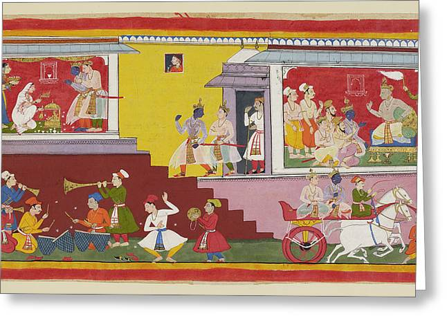 Dasaratha Tells Rama He Will Be Regent Greeting Card by British Library