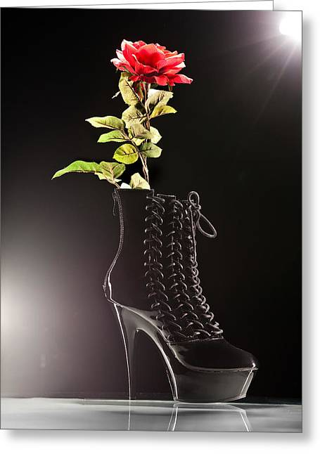 Greeting Card featuring the photograph Dat Boot by Dario Infini