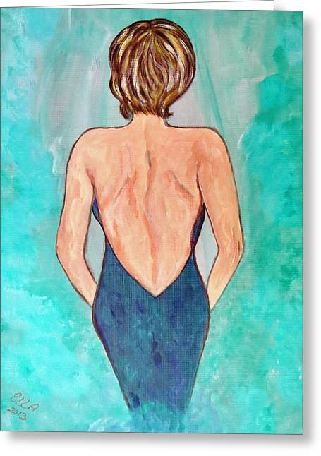 Greeting Card featuring the painting Date Night by Ella Kaye Dickey