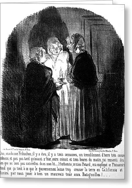 Daumier Earthquake, 1852 Greeting Card by Granger