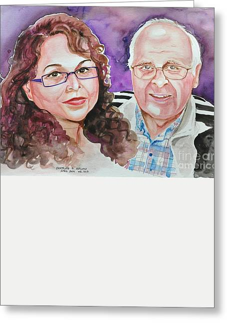 Dave And Cecile Greeting Card