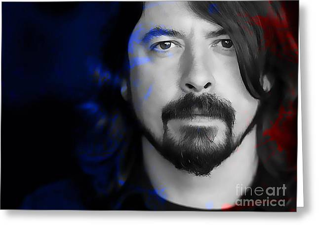Dave Grohl Greeting Card by Marvin Blaine