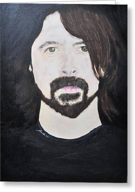 Dave Grohl Portrait Greeting Card