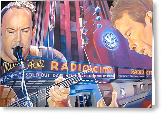 Dave Matthews And Tim Reynolds At Radio City Greeting Card by Joshua Morton