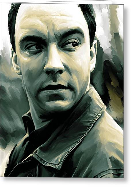 Dave Matthews Artwork Greeting Card by Sheraz A