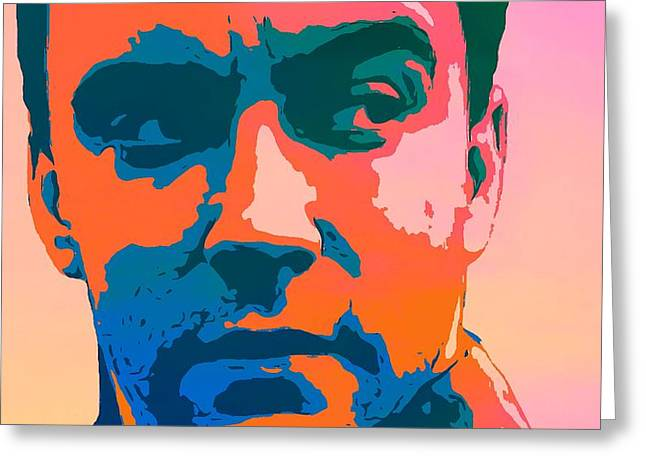 Dave Matthews Pop Art Greeting Card by Dan Sproul