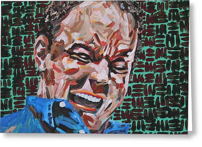 Dave Matthews Portrait Greeting Card by Robert Yaeger