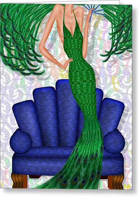 Davenport Dame Greeting Card by Troy Brown