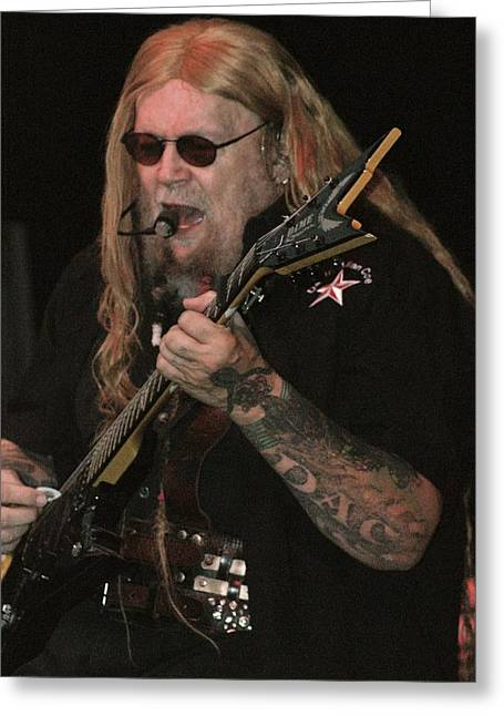 David Allan Coe Greeting Card by Joe Bledsoe