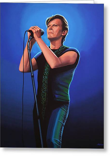 David Bowie 2 Painting Greeting Card