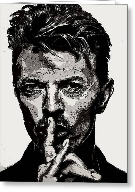 David Bowie - Pencil Greeting Card
