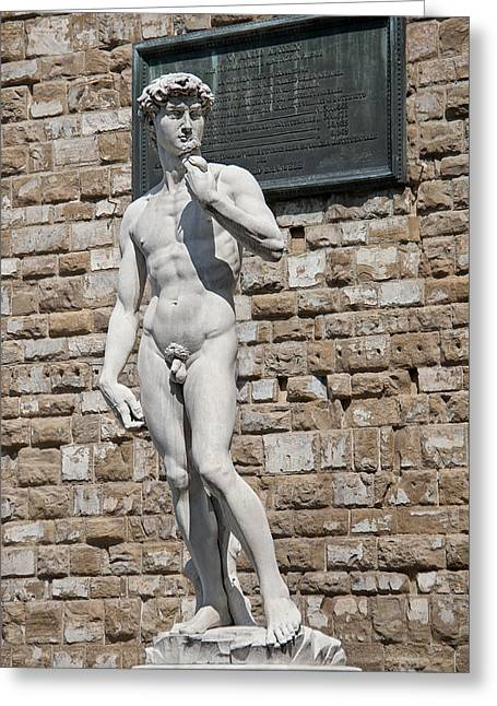 David By Michelangelo Greeting Card by Melany Sarafis