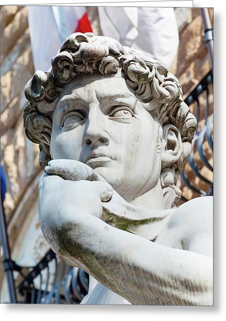 David, By Michelangelo, Palazzo Greeting Card by Nico Tondini