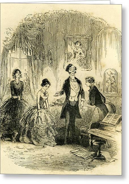 David Copperfield I Fall Into Captivity Greeting Card by English School