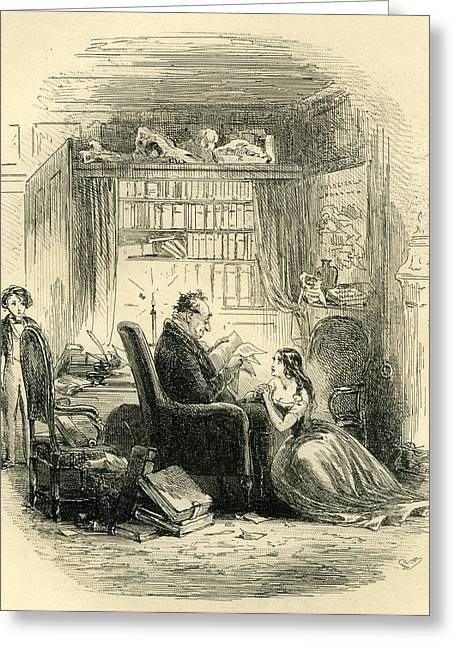David Copperfield I Return To The Doctors After The Party Greeting Card by English School