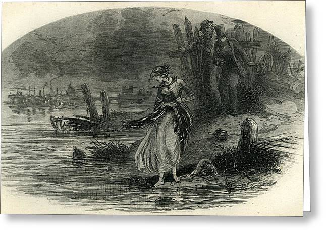 David Copperfield The River Greeting Card by English School
