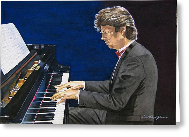 David Foster Symphony Sessions Portrait Greeting Card by David Lloyd Glover