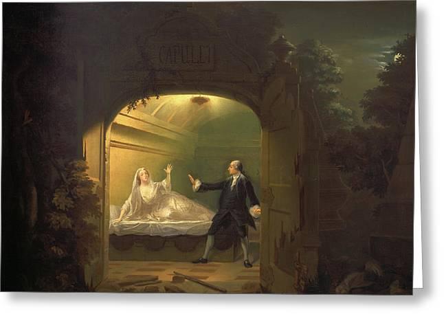 David Garrick And George Anne Bellamy In Romeo And Juliet Greeting Card