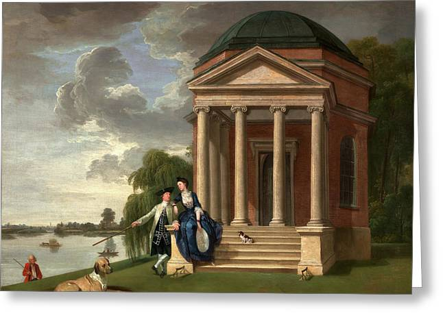 David Garrick And His Wife By His Temple To Shakespeare Greeting Card by Litz Collection