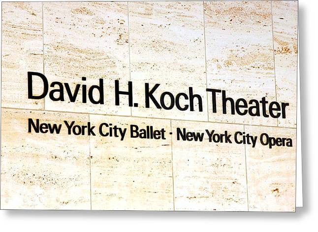 David H. Koch Theater Greeting Card by Valentino Visentini