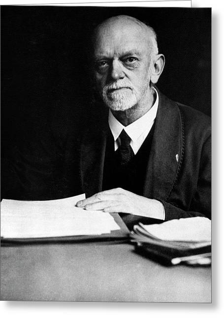 David Hilbert Greeting Card by Emilio Segre Visual Archives/american Institute Of Physics