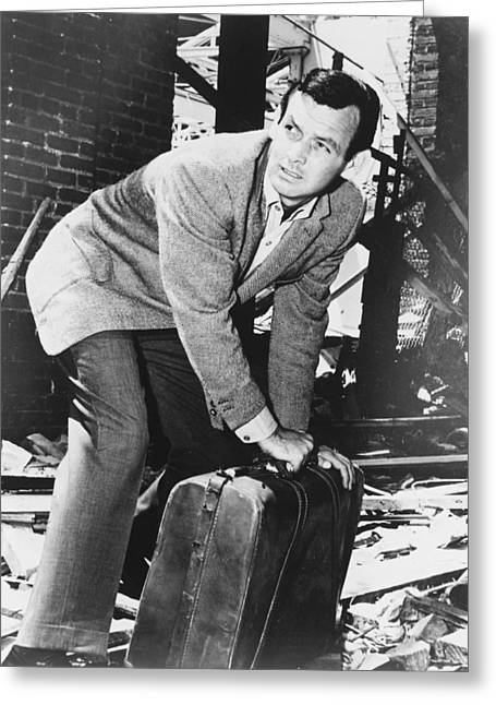 David Janssen In The Fugitive Greeting Card