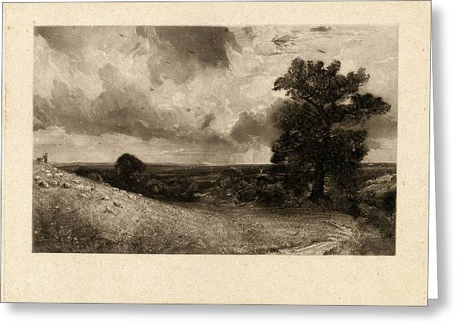 David Lucas After John Constable, Noon, British Greeting Card by Litz Collection