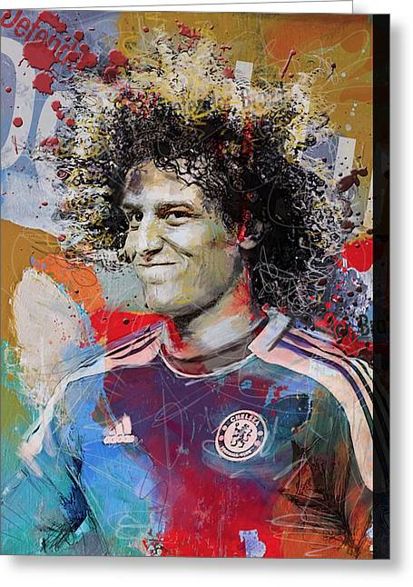 David Luiz - B Greeting Card by Corporate Art Task Force