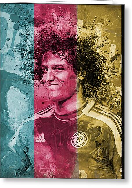 David Luiz - C Greeting Card by Corporate Art Task Force