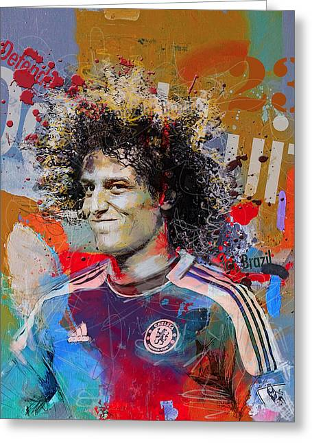 David Luiz Greeting Card by Corporate Art Task Force