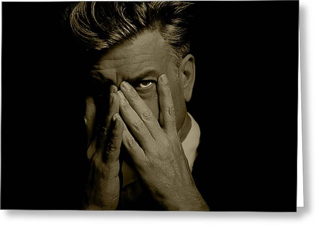 David Lynch Hands Greeting Card by YoPedro
