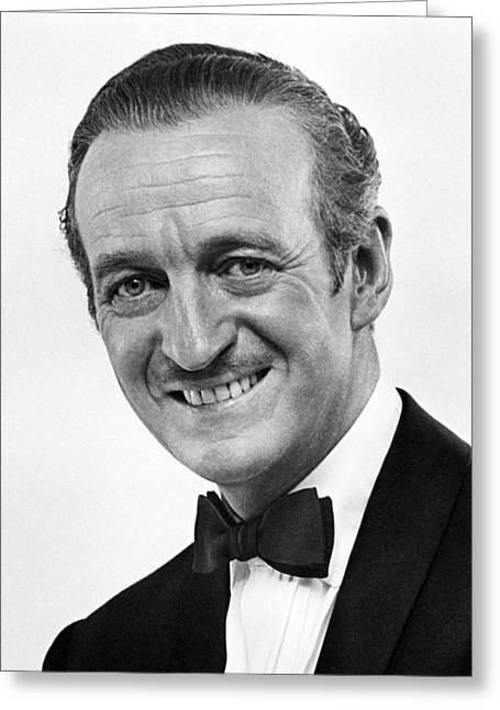 David Niven In Bedtime Story  Greeting Card by Silver Screen