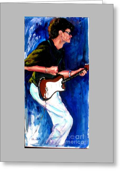 David On Guitar Greeting Card