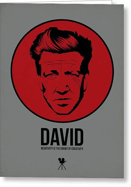 David Poster 1 Greeting Card by Naxart Studio