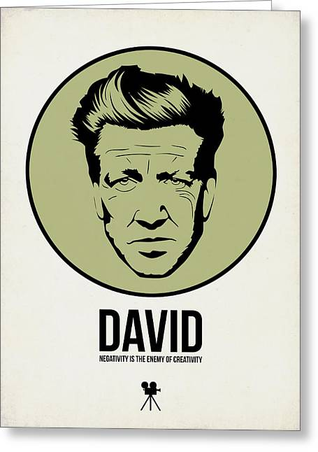 David Poster 2 Greeting Card by Naxart Studio