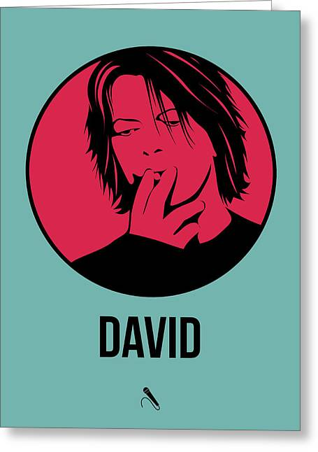 David Poster 3 Greeting Card by Naxart Studio