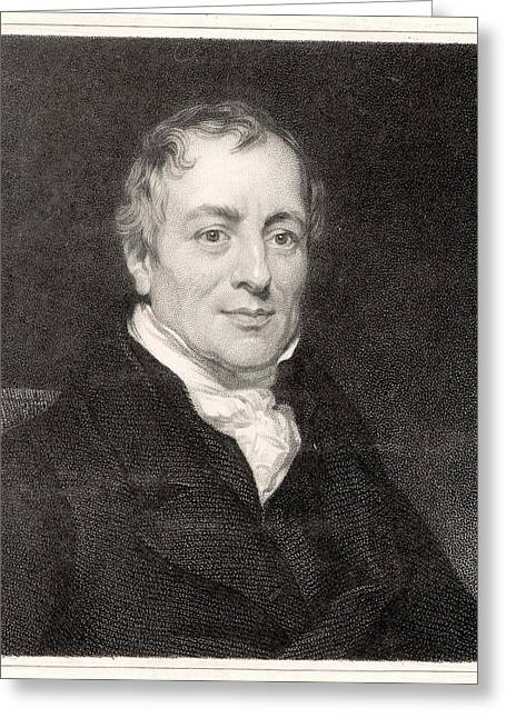 David Ricardo  Economist        Date Greeting Card by Mary Evans Picture Library