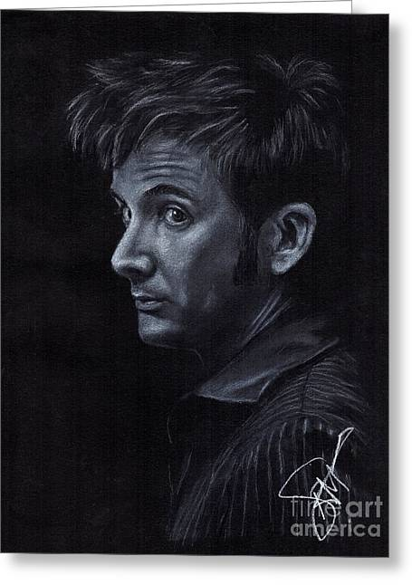 David Tennant 3 Greeting Card by Rosalinda Markle