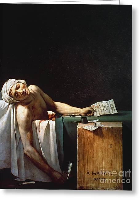 David: The Death Of Marat Greeting Card by Granger